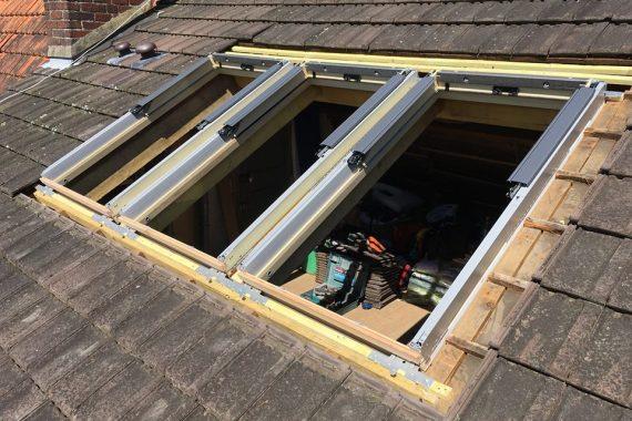 Création fenêtre de toit trio velux normandie